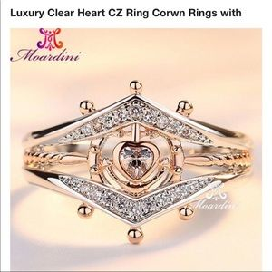 White gold filled heart ring